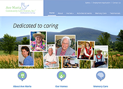 Custom Website for Memory Care Homes