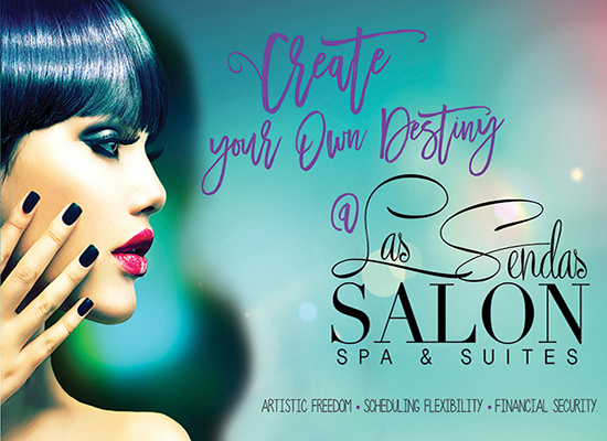 Direct mail design for beauty salon