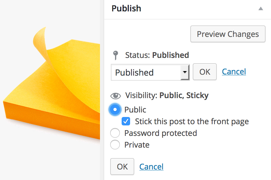 WordPress –  How To Create A Sticky Post