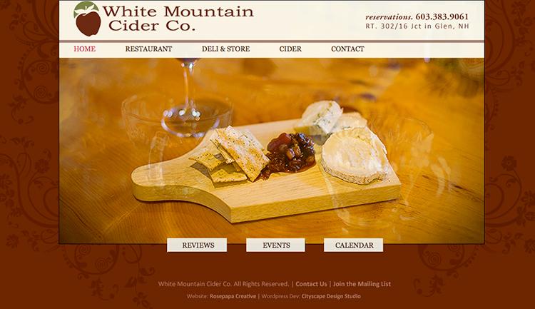 2008 White Mountain Cider Restaurant.