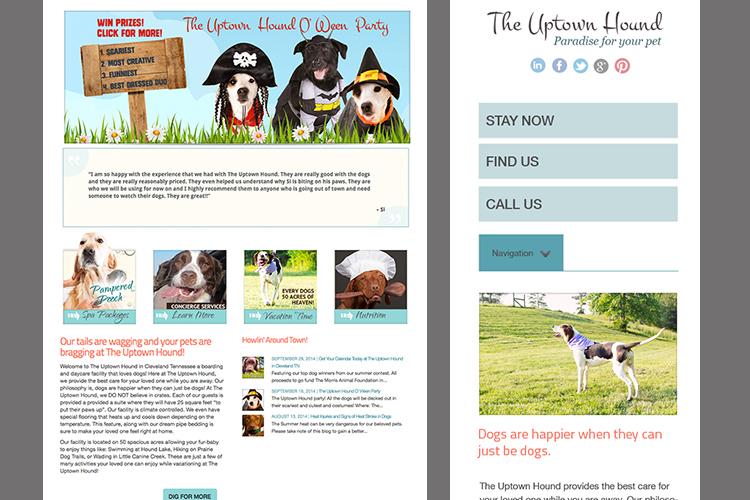 Uptown Hound design, development and branding created by Rosepapa Creative