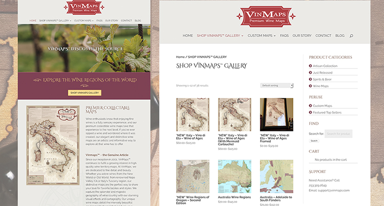 10 years later! Rosepapa Creative builds a new Mobile WordPress website for VinMaps 10 years later!