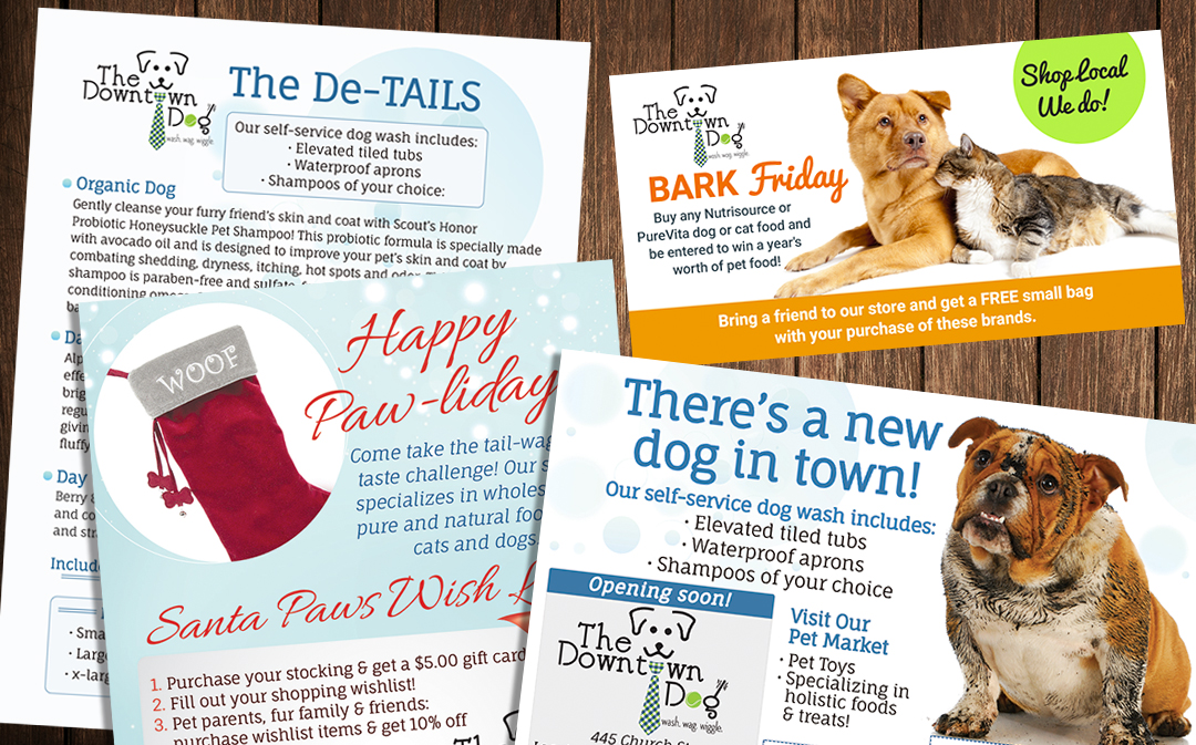 Custom Designed Print Collateral, Ads & Flyers for Pet Based Business