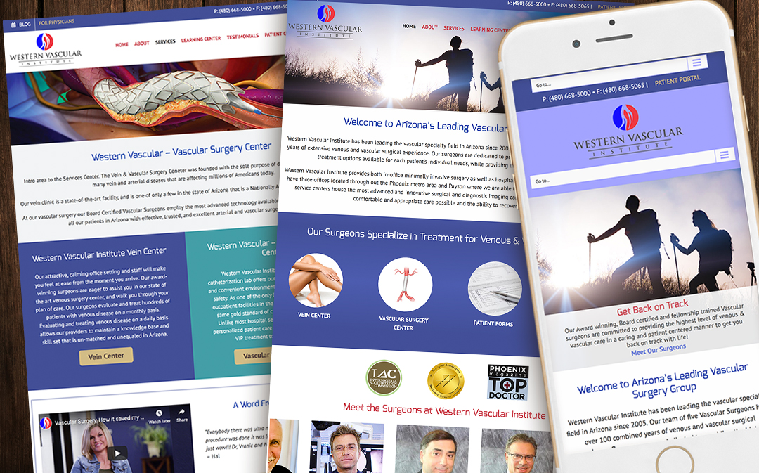 Website Design & Development for Western Vascular Surgery