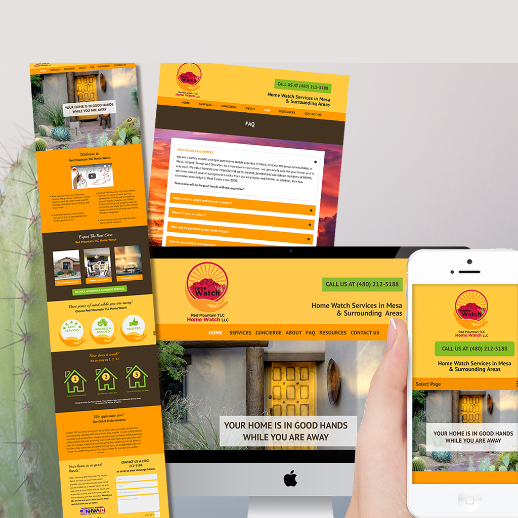 Website design and branding for Home Watch business in Arizona